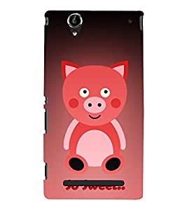 Teddy Bear Cute Fashion 3D Hard Polycarbonate Designer Back Case Cover for Sony Xperia T2 Ultra :: Sony Xperia T2 Ultra Dual SIM D5322 :: Sony Xperia T2 Ultra XM50h