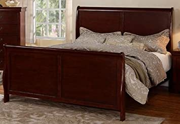 Louis Phillipe Cherry Queen Size French Style Sleigh Bed
