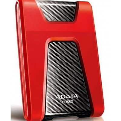 Adata Dashdrive HD650 1TB Portable External Hard Drive (Red)