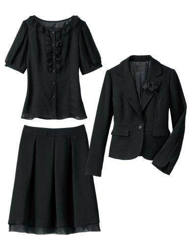 【IMAGE】ジャケット&ブラウス&スカート ブラック 9 1131233