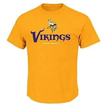 NFL Minnesota Vikings Men's All Time Great V Short Sleeve Tee, Classic Gold, X-Large