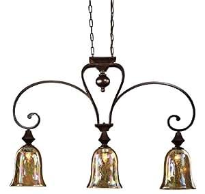Uttermost 21051 3 light elba kitchen island light pendant for Kitchen spotlights amazon