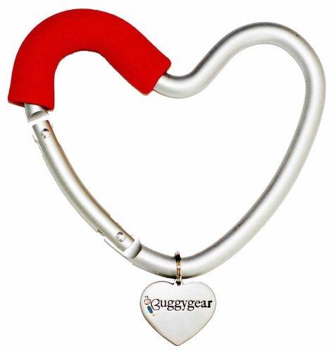 Buggygear Heart Hook, Red/Silver