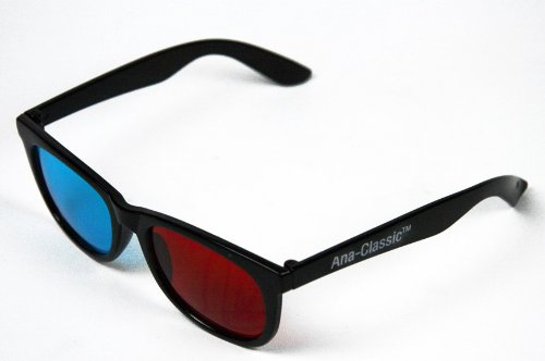 f96774e543 3D Glasses - ANACHROME (TM) Red and Cyan Anaglyph Glasses for YOUTUBE  Viewing (