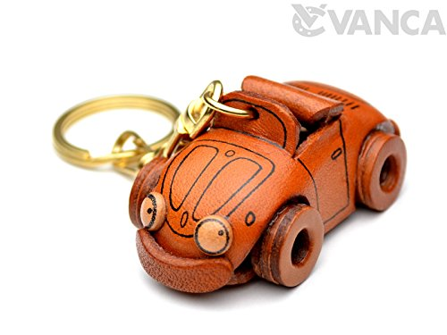 Volkswagen Leather Vehicles KH Keychain VANCA CRAFT-Collectible keyring Made in Japan