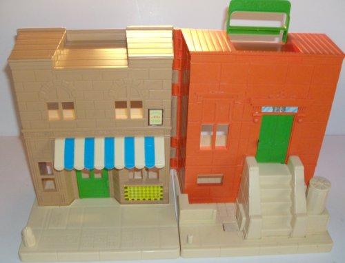 "Sesame Street Playhouse Vintage 1984 Playskool Set 9 1/2"" Tall 13"" Overall Width front-886862"