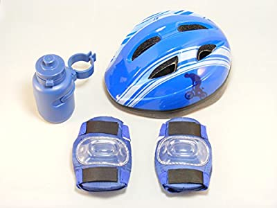Boys Cycle Safety Set With Helmet - Includes Helmet, Bottle, Knee & Elbow Pads