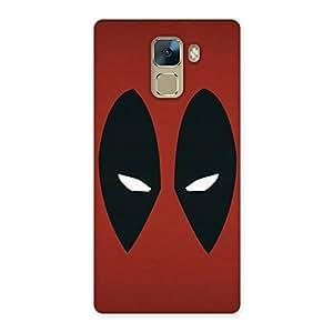 Ajay Enterprises Red Dead Black Eye True Back Case Cover for Huawei Honor 7