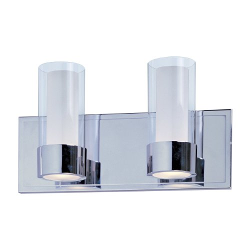 Vanity Lights Cyber Monday : Black friday Maxim Lighting 23072CLFTPC Silo 2-Light Bath Vanity, Polished Chrome Finish with ...