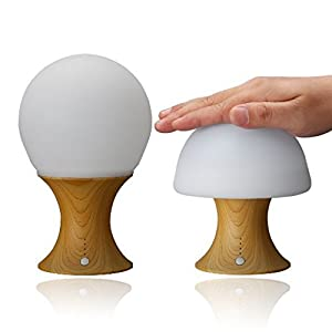 LEDemain Children's LED Beside Lamp Color Changing Mushroom Night Light / Mood Light / Reading Light for Baby Kids BedRoom (Build-in 1200MAH Battery, Auto-off Timer, Silicon+ABS) from LEDemain