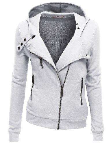 Doublju-Women-Slim-Fit-Fleece-Zip-up-Hoodie-Jacket-with-Zipper-Point