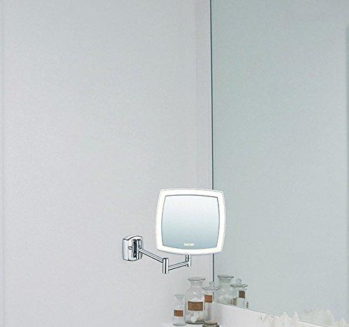 Beurer bs 89 espejo cosm tico de pared con luz led 5 for Espejo 8 aumentos