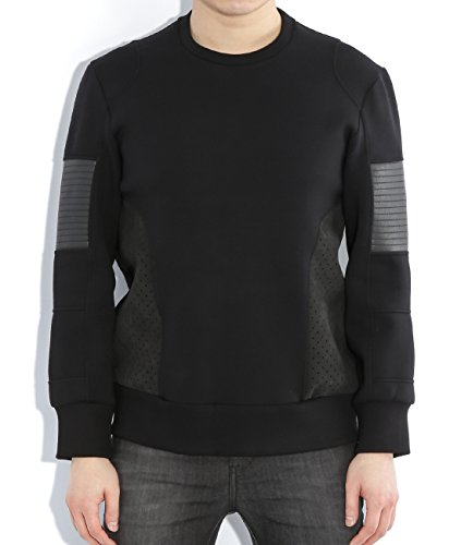 wiberlux-neil-barrett-mens-textured-panel-sweatshirt-m-black