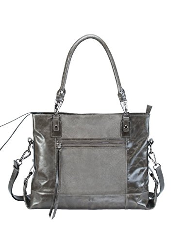 eunoia-distressed-leather-and-suede-paneled-shoulder-bag-complete-with-convertible-crossbody-strap