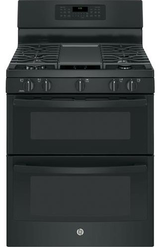 GE-JGB860DEJBB-30-Black-Gas-Sealed-Burner-Double-Oven-Range-Convection