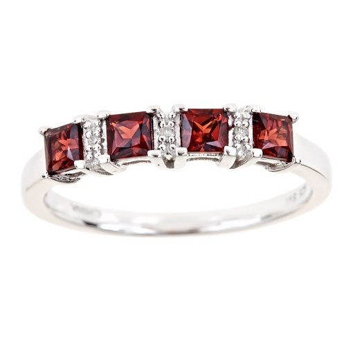 89-Carat-Princess-Cut-Garnet-Diamond-Ring-Wedding-Band