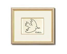 ピカソが平和への願いを込めて描いた作品 ■ピカソ 絵画額 「平和」