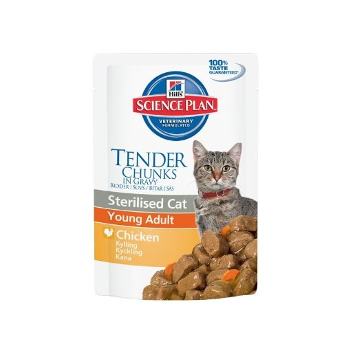 HILL\'S - HILL'S SCIENCE PLAN FELINE STERILISED CAT YOUNG ADULT POLLO 85 GR. - 0468