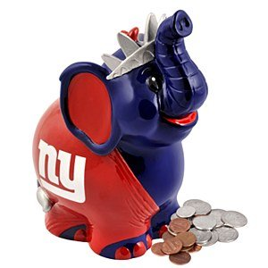 NFL New York Giants Thematic Elephant Piggy Bank
