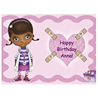 Doc McStuffins Edible Image Cake Topper Birthday Cake PERSONALIZED FREE!