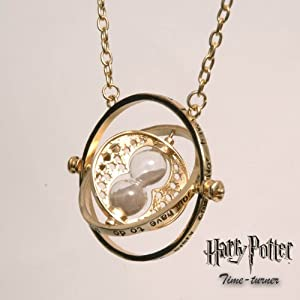 Harry Potter Falcao Horrocrux giratiempos Spinning Collar de Oro en bolsa de regalo