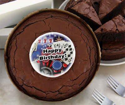 Birthday Brownie Cake - Casino