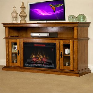 Classicflame Brookfield Infrared Electric Fireplace Entertainment Center In Premium Oak - 26Mm2209-O107
