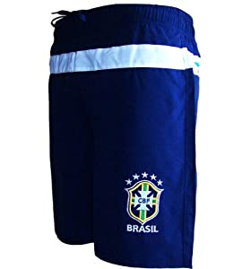 short de bain plage bresil collection officielle equipe du br sil de football brasil. Black Bedroom Furniture Sets. Home Design Ideas