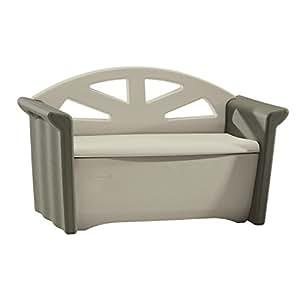 Rubbermaid Patio Storage Bench, Dark Platinum #3764