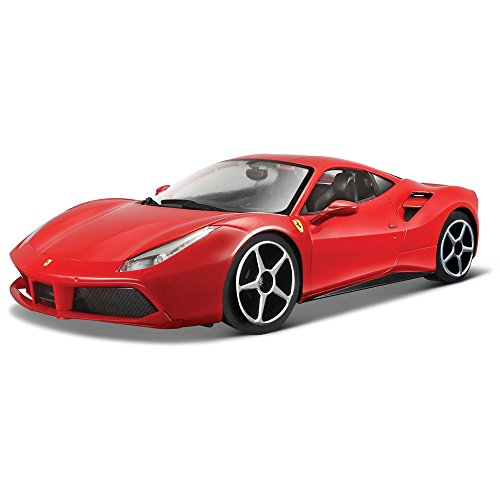 Bburago 26013 Ferrari 488 GTB rouge foncééchelle 1:24 Maquette de voiture