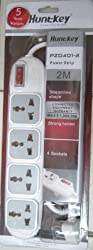 Huntkey 4 Socket Power Strip with 3 year Warranty