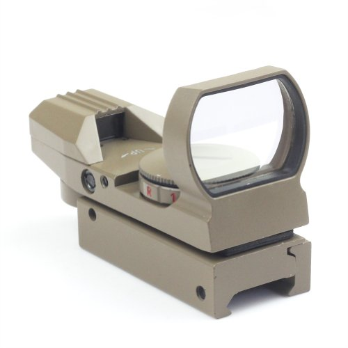 Tan Holographic Reflex 4 Reticle Red/Green Dot Sight Scope 21Mm Rail Mount