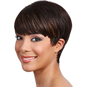 Amazon.com : BOBBI BOSS Human Hair Wig - MH1212 CUTIE (# 1