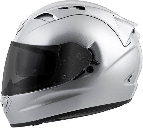 Scorpion EXO-T1200 Solid Street Motorcycle Helmet (Silver, Large)