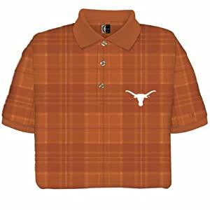 Texas Longhorns Plaid Polo Shirt by Chiliwear LLC
