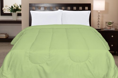 All Seasons Ligh Weight Reversible Solid And Two-Tone Down Alternative Comforter - All Sizes, 11 Color Varieties - King, Sage