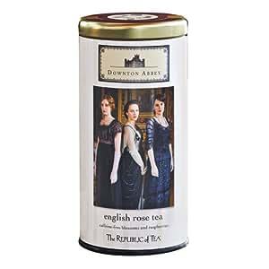 Amazon.com : The Republic Of Tea Downton Abbey English Rose Tea Bags