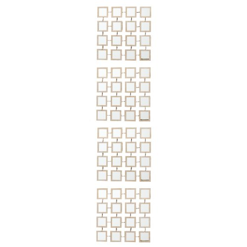 Southern Enterprises 4-Piece Mirrored Grid Wall Panel Set
