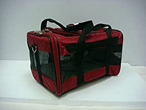 Sherpa Original Deluxe Red Pet Carrier Medium Exclusive Diamond Pattern
