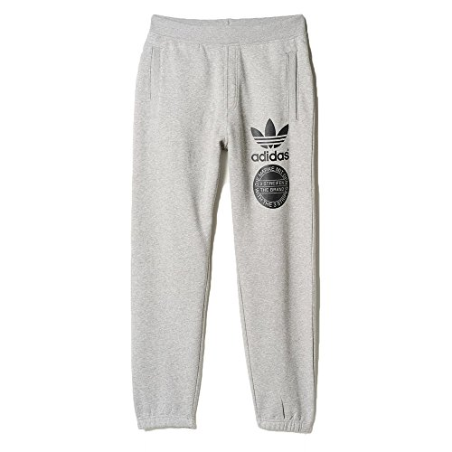 adidas Originals Men/'s Street Graphic Sweat Pants Grey
