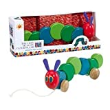 Hungry Caterpillar Pull Along Traditional Wooden Toy Baby Gifts and Toys