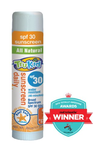 TruKid Sunny Days SPF 30 Plus Water-Resistant Sunscreen Stick, 0.62 Ounce - 1