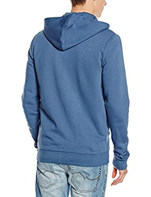 New Look Men's Basic Zip Through Long Sleeve Hoodie