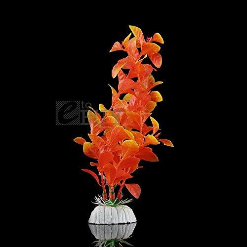 New Artificial Water Plants for Fish Tank Aquarium Plastic Decoration Ornament Orange set035