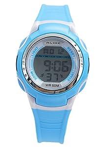 Aivtalk Child Boys Wristwatch 50M Waterproof Led Multifunctional Quartz Digital Alarm Sports Watch For Students - Blue
