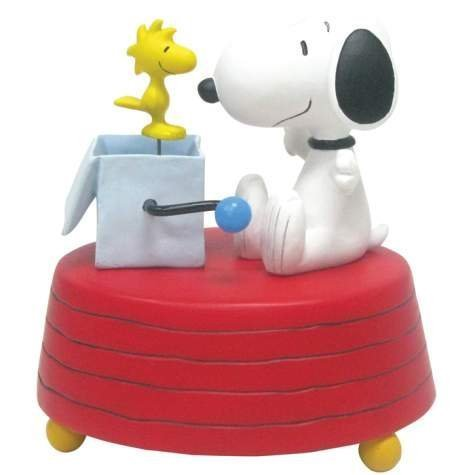 Westland Giftware Resin Musical Figurine, Snoopy and Woodstock-In-The-Box