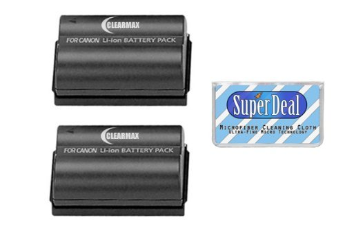2 Pack of High Capacity Batteries For Canon EOS 5D, 10D, 20D, 20Da, 30D, 40D, 50D, D30, D40, And 300D/Digital Rebel SLR Cameras