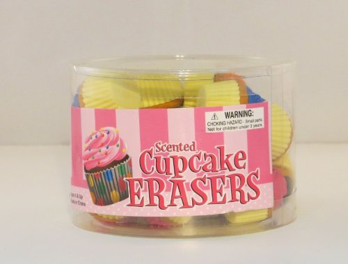 24 Scented Cupcake Puzzle Erasers - 1