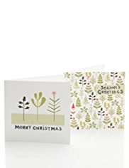 20 Festive Foliage Charity Christmas Multipack of Cards