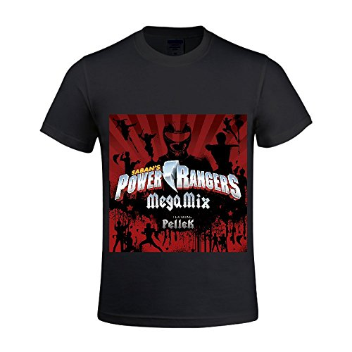 Power Rangers Power Rangers Megamix Men T Shirts Crew Neck DIY Black (Power Rangers Compression compare prices)